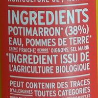 Soupe potimarron bio - Inhaltsstoffe - fr