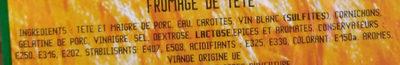 Fromage de tête - Ingrédients