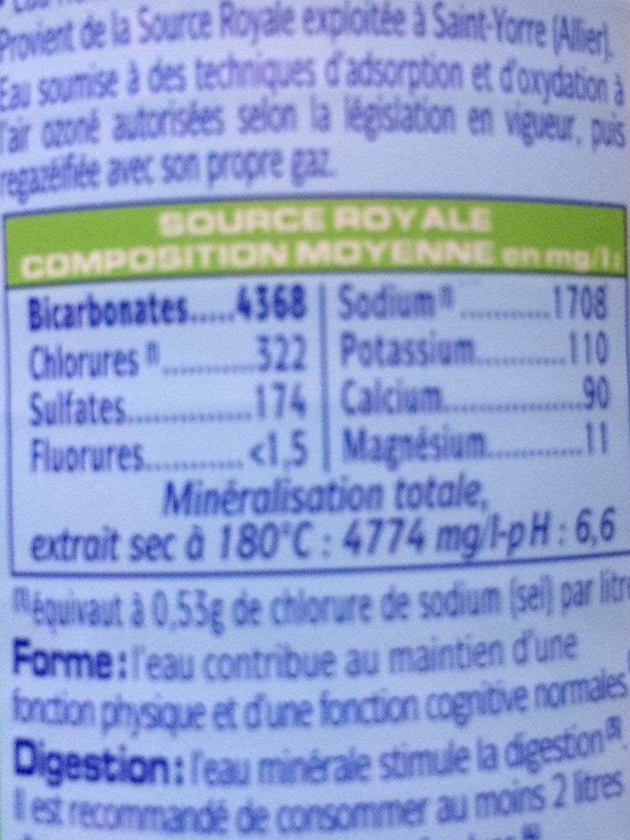 St-Yorre - La Force Minérale - Informations nutritionnelles - fr