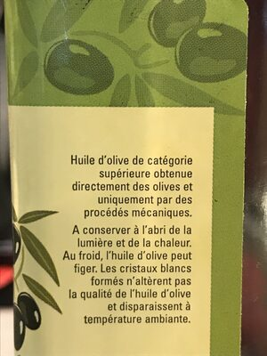 Huile d'olive vierge extra - Ingredients - fr
