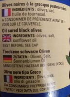 Olives noires a la grecque - Ingredienti - fr