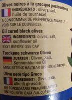 Olives noires a la grecque - Valori nutrizionali - fr