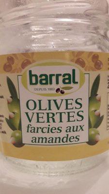 Olives vertes farcies aux amandes - Product - fr