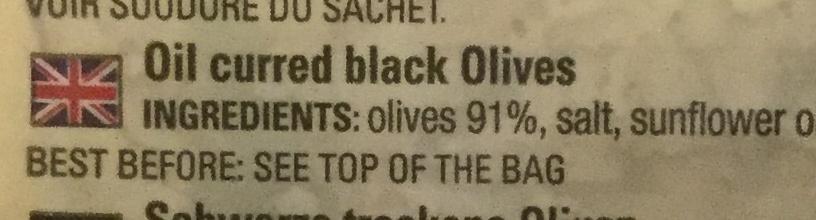 Olives noires a la grecque - Ingredients - en