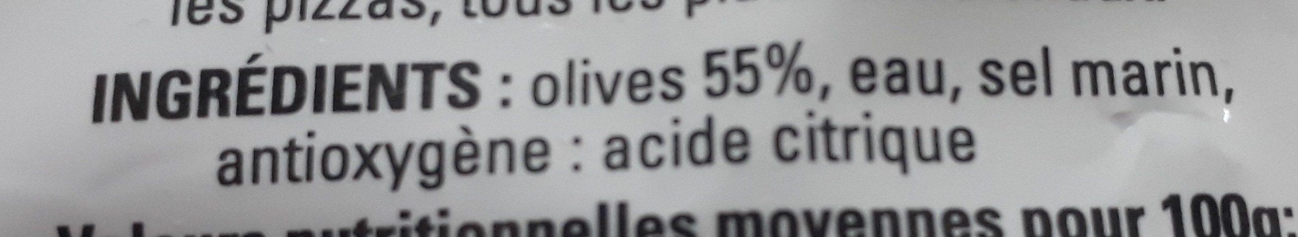 Olives noires au naturel - Ingredients - fr