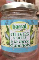 Olives vertes a la farce d'anchois - Product - fr