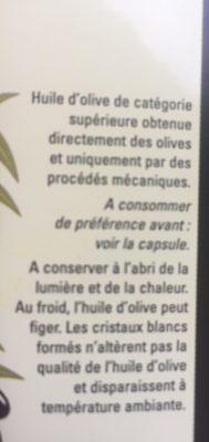 Huile olive vierge extra - Ingredients - fr