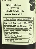 Huile olive vierge extra - Nutrition facts - fr