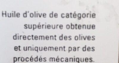Huile d olive vierge extra bio - Ingredients - fr