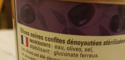 Olives Noires Dénoyautées, 1 / 2 - Ingredients - fr
