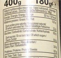 Olives Noires Dénoyautées, 1 / 2 - Nutrition facts - fr