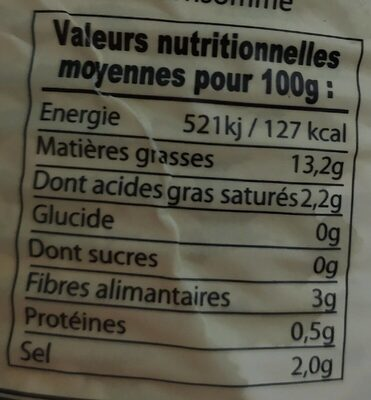 Olives Noires Dénoyautées Barral 800 Gr, 1 Boîte - Nutrition facts - fr