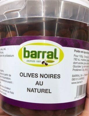 Olives noires au naturel - Product - fr