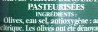 Olives vertes dénoyautés - Ingredients