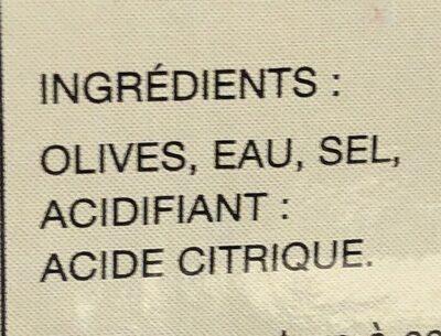 Olives vertes Picholines - Ingredients - fr