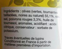 Cocktail d'olives méditerranée - Ingredients - fr