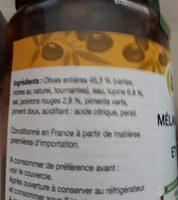 Mélange d'olives moins et poivrons - Ingredients - fr