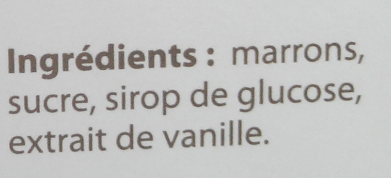 Marrons glacés, petits, cassés - Ingredients - fr