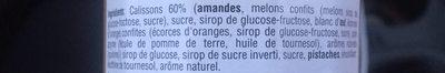 Crème de calisson - Ingredients