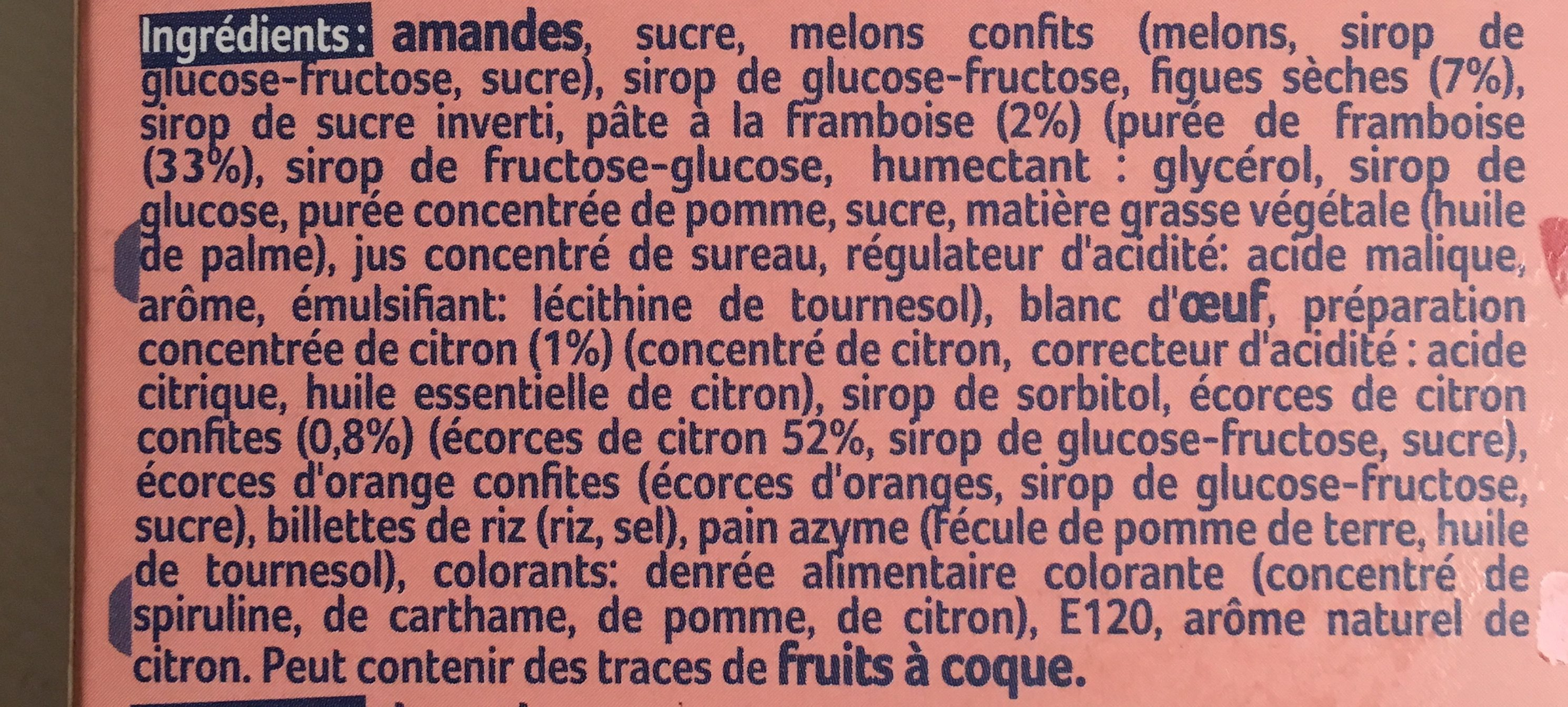 Petits Calissons Aux Fruits - Ingredients