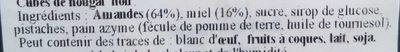 Calissons du Roy René Aix en Provence - Ingrédients - fr
