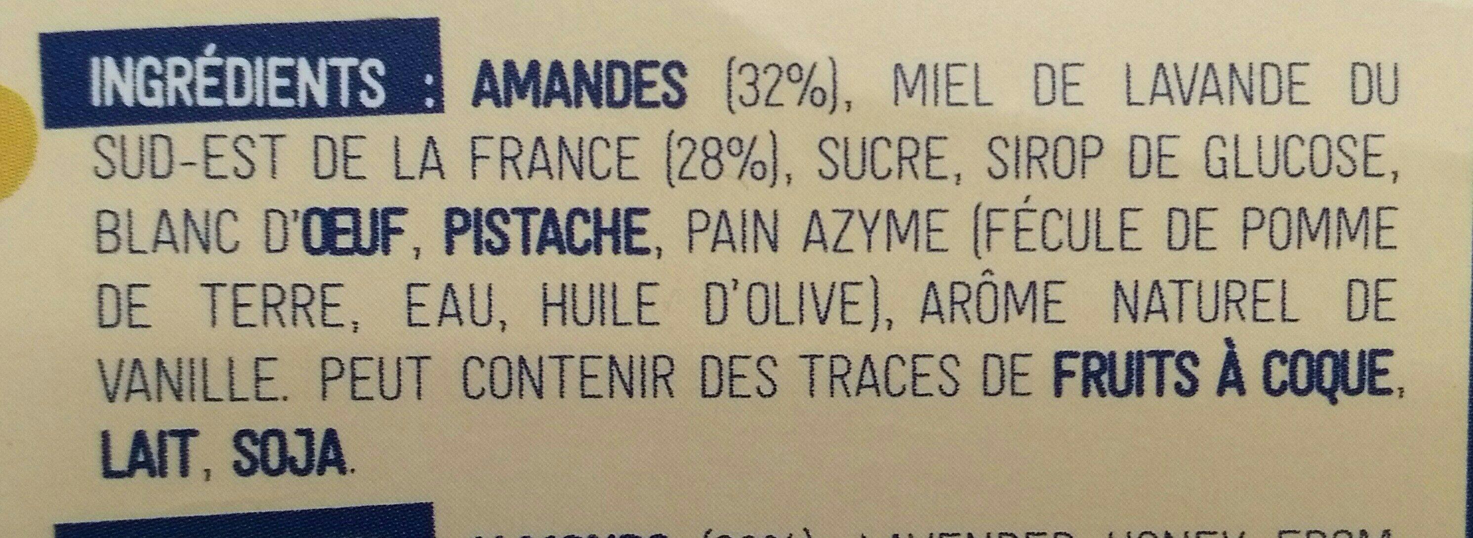Nougat blanc du Roy René - Ingrédients - fr