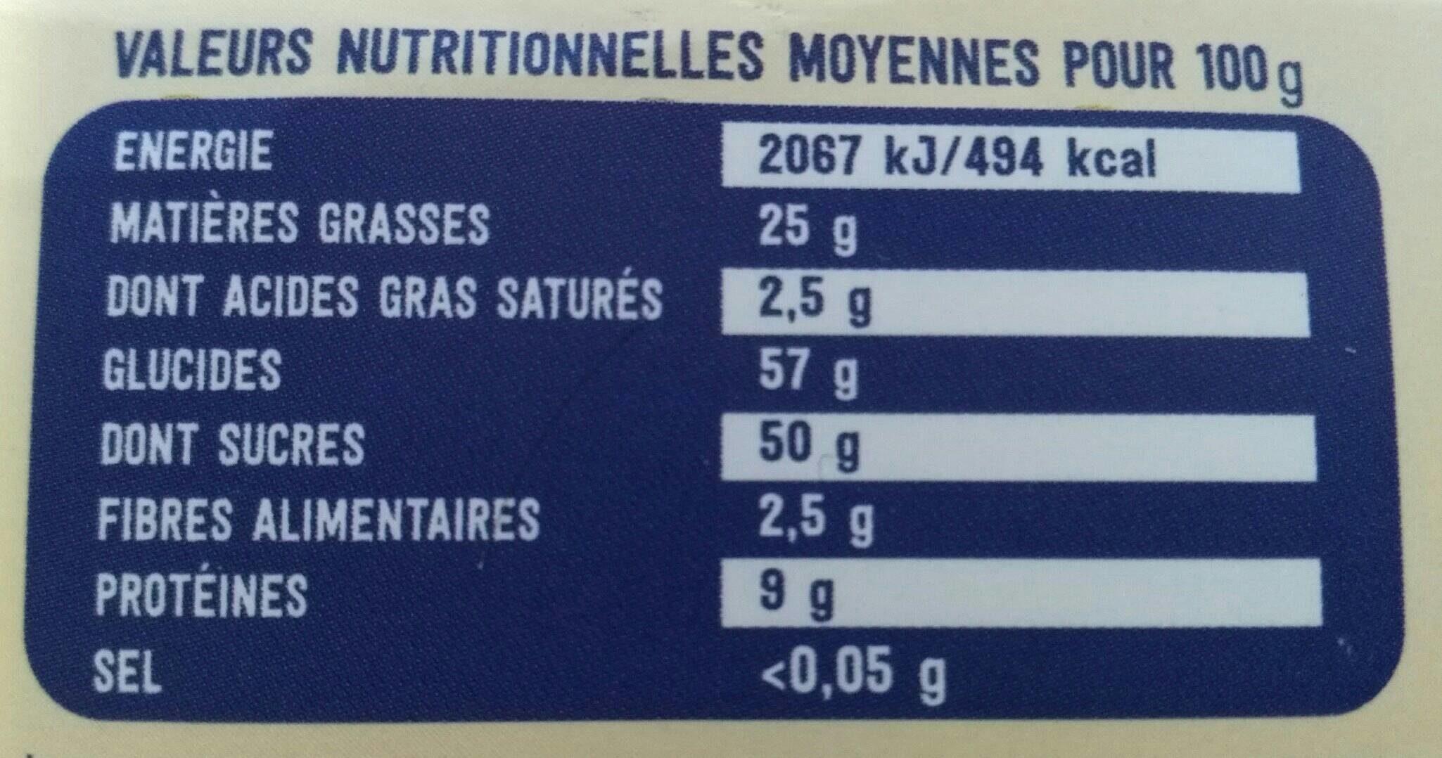 Nougat blanc du Roy René - Informations nutritionnelles - fr