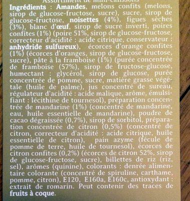 Assortiment de petits calissons - Ingrédients - fr
