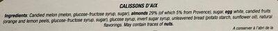 Calissons D'Aix - Ingredients