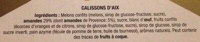 Calissons du roy rené - Ingredients