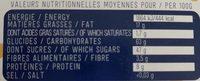 Calissons d'Aix du Roy René - Informations nutritionnelles