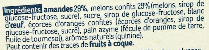 Petits Calissons du Roy René - Ingrédients - fr