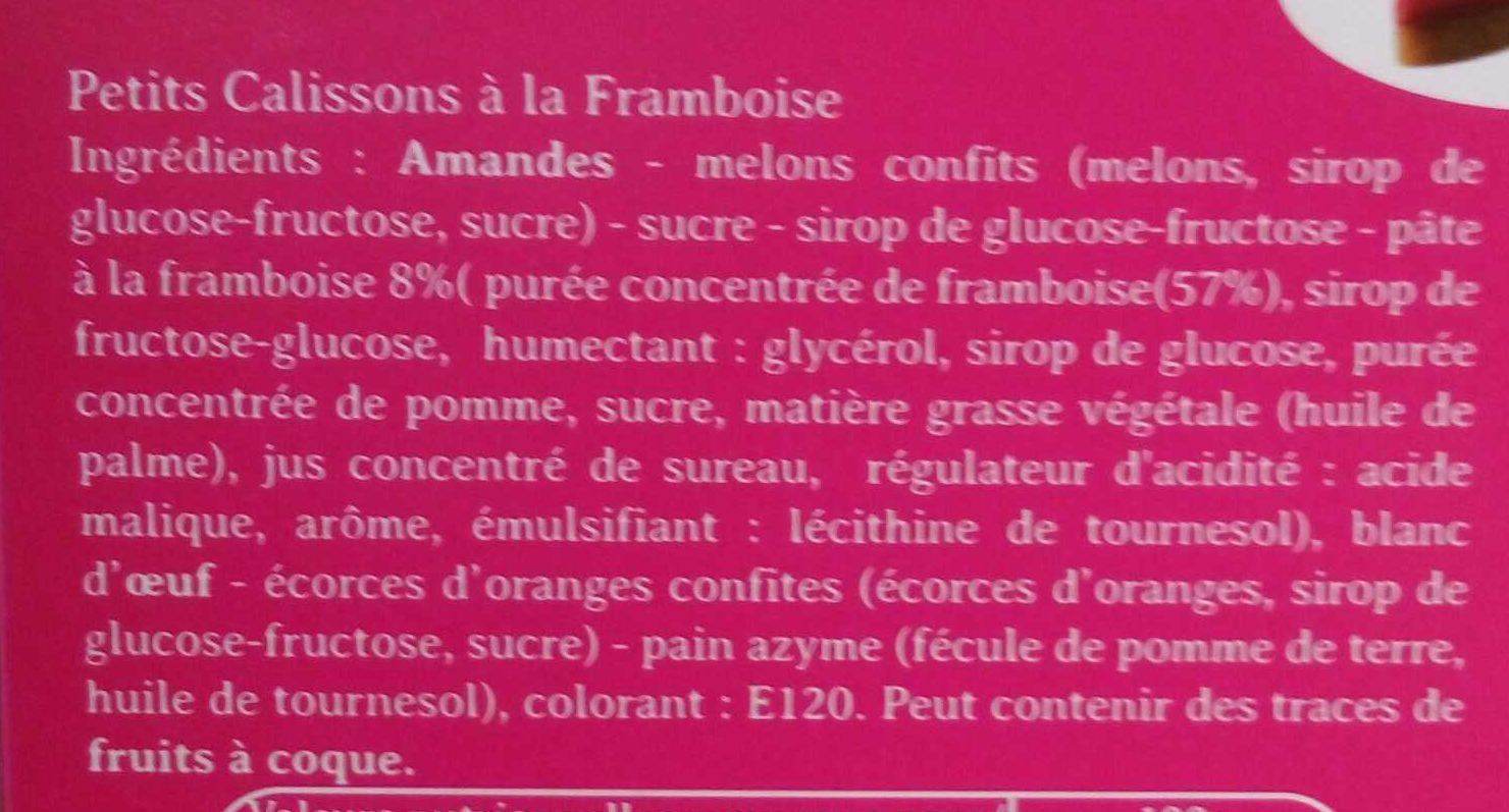 Petits Calissons à la Framboise - Ingrédients