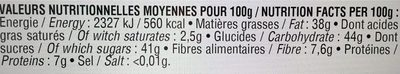 Pâte à tartiner Chocolat Noir & Noisettes - Nutrition facts