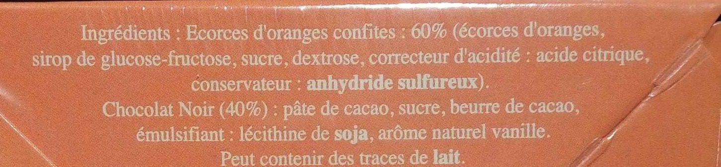 Orangettes du Roy René - Ingredienti - fr