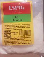 Ail poudre - Product