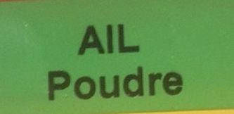 Ail poudre - Ingredients