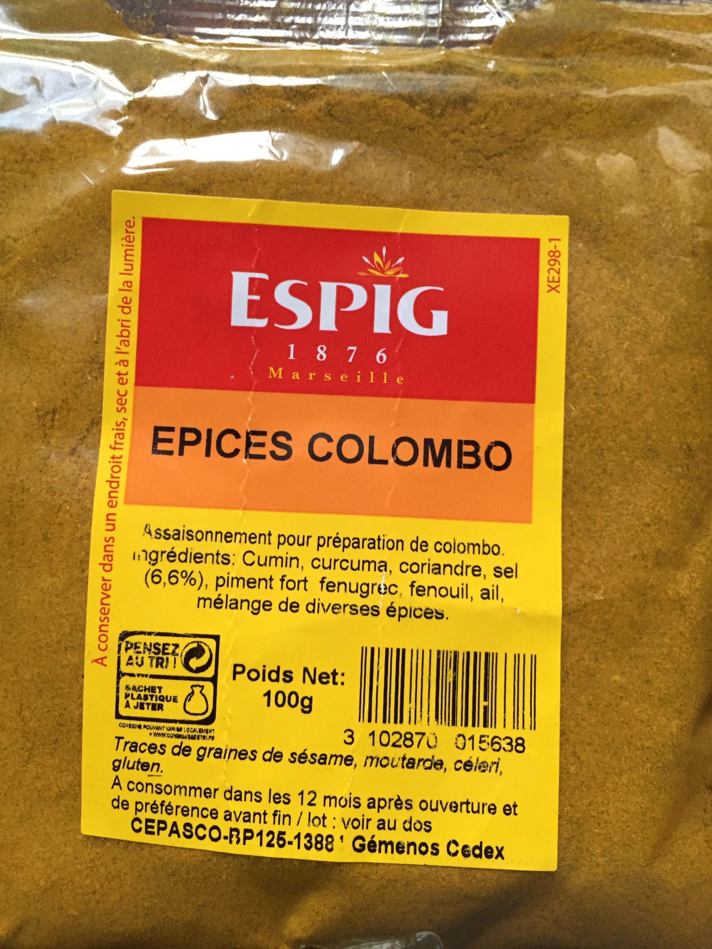 Epices Colombo - Produit