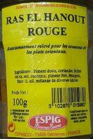Ras el Hanout rouge - Product