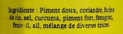 Ras el Hanout rouge - Ingredients