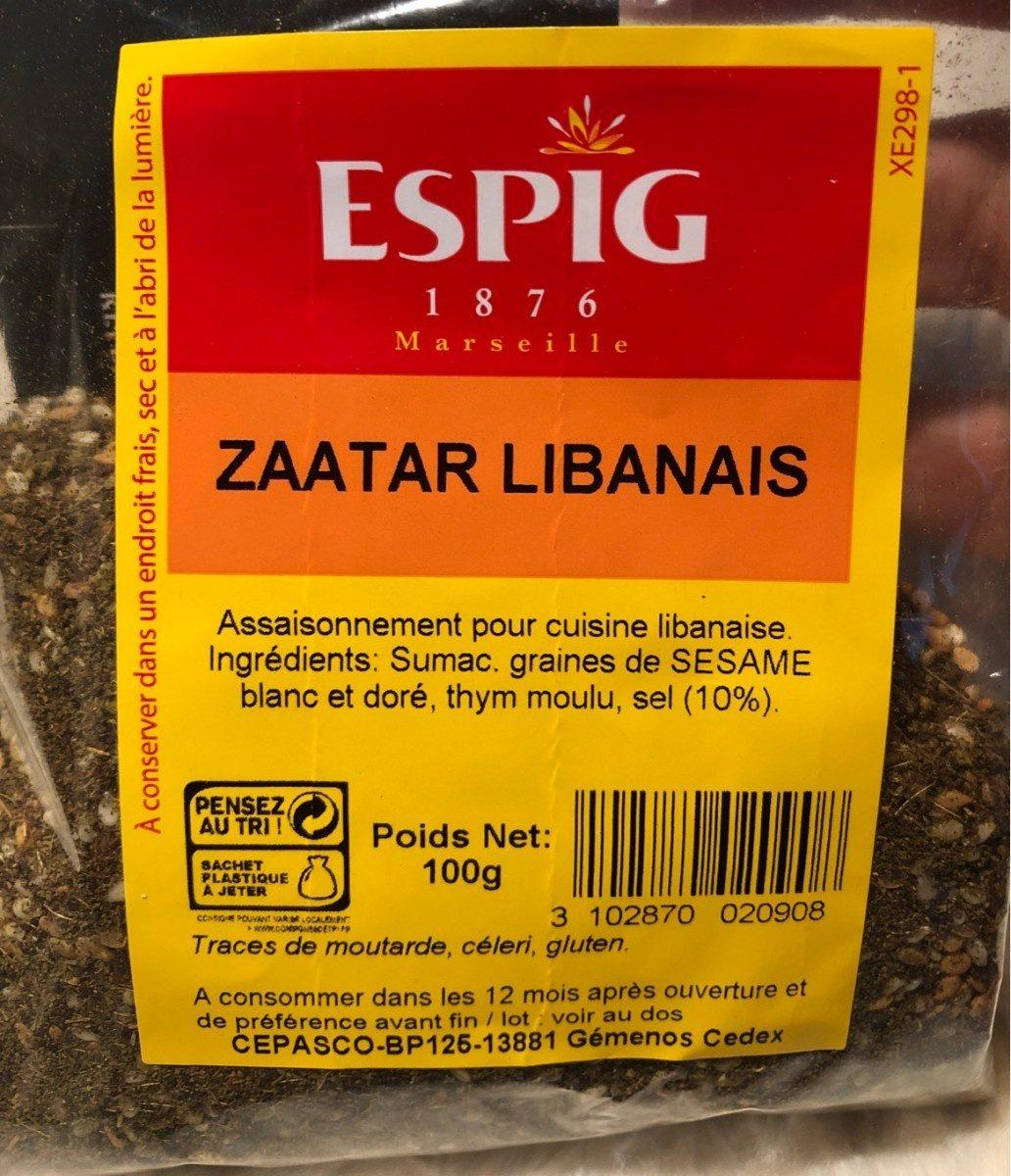 Zaatar libanais - Produit - fr