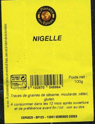 NIGELLE - Ingrediënten