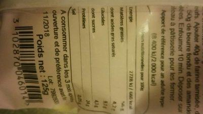 Amandes effilées - Informations nutritionnelles