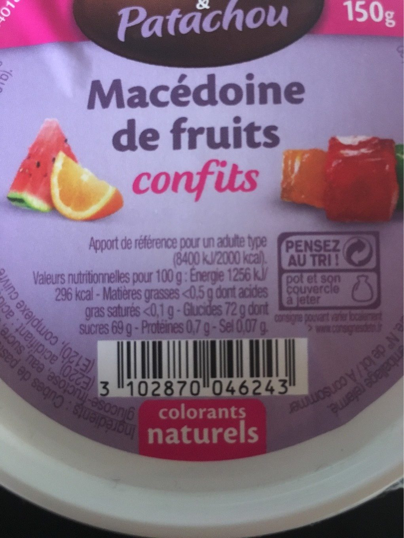 Macédoine de fruits - Voedingswaarden