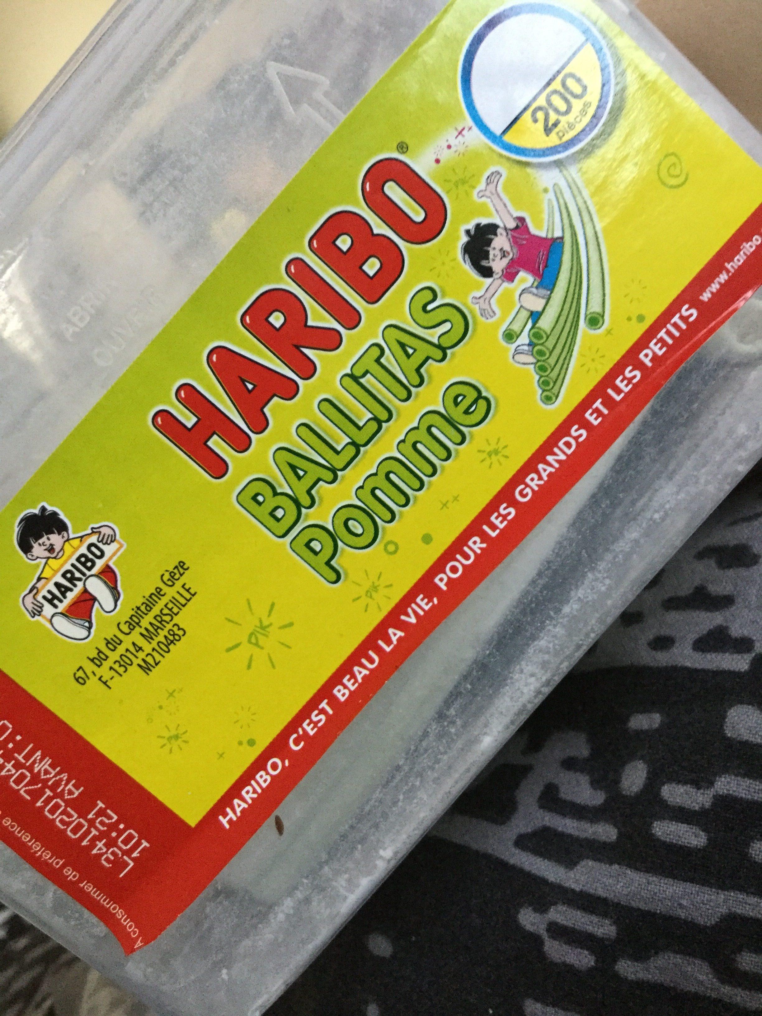 Haribo Ballitas Pomme200p - Ingrediënten - fr