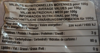 Chamallows - Nutrition facts - fr