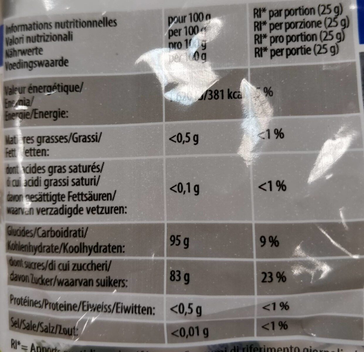 Starmint 200g - Nutrition facts - fr