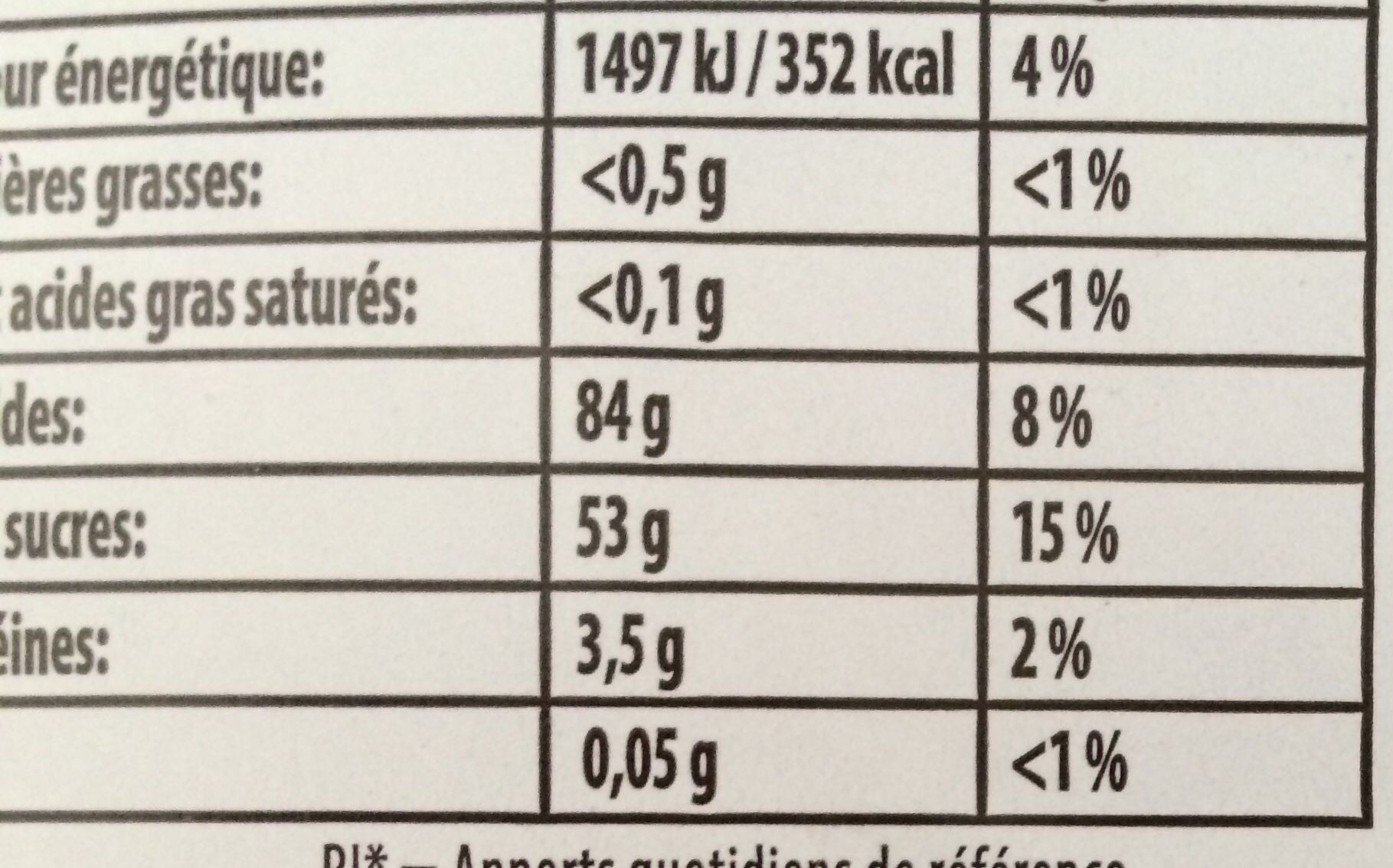 dragolo 750g - Nutrition facts
