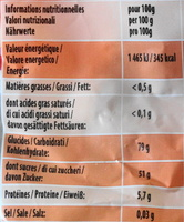 Croco - Nutrition facts - fr