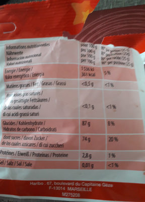 Tagada l'originale - Nutrition facts
